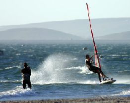 Velddrif WindSurfing on Berg River or Ocean